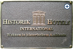 Outdoor sign Historik Hotels: Size: 29cm x 19cm